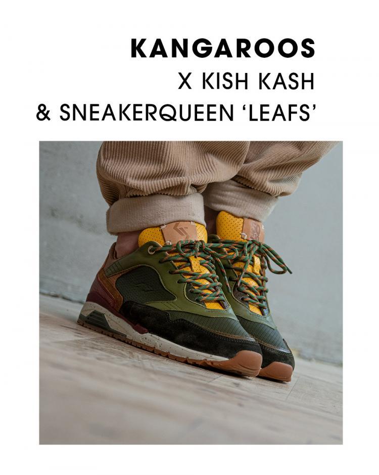 KangaROOS x SneakerQueen x Kish Kash Ultimate 'Roos United' leafs