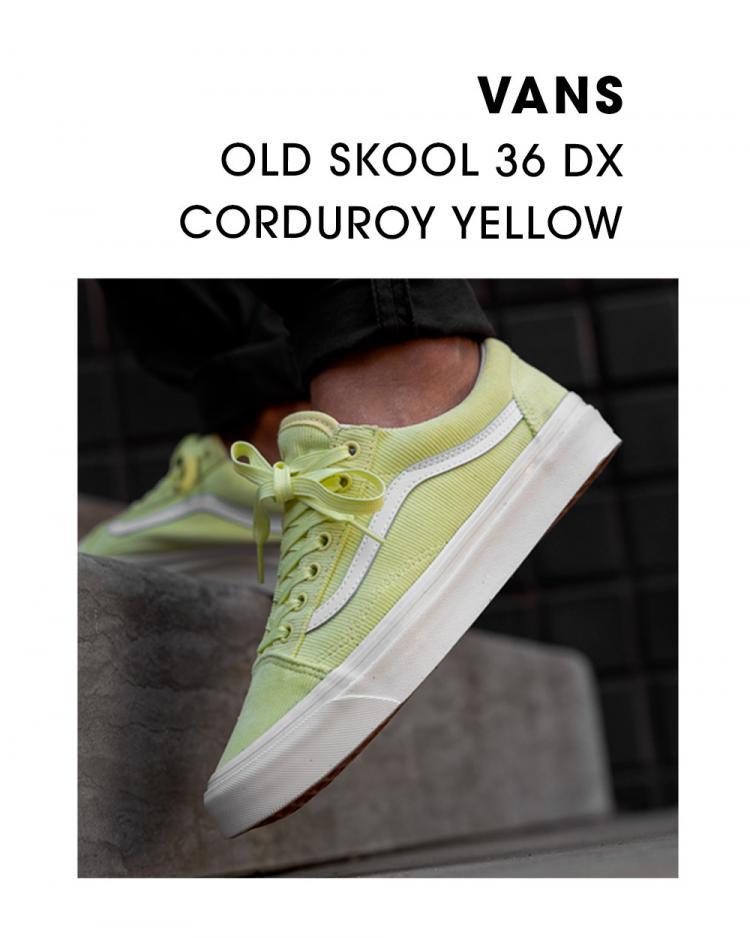 Vans Old Skool 36 DX corduroy yellow