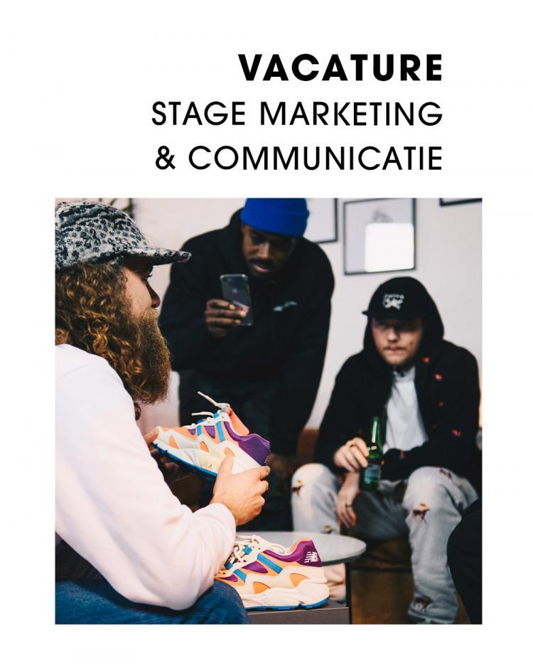 Vacature Stage Marketing & Communicatie