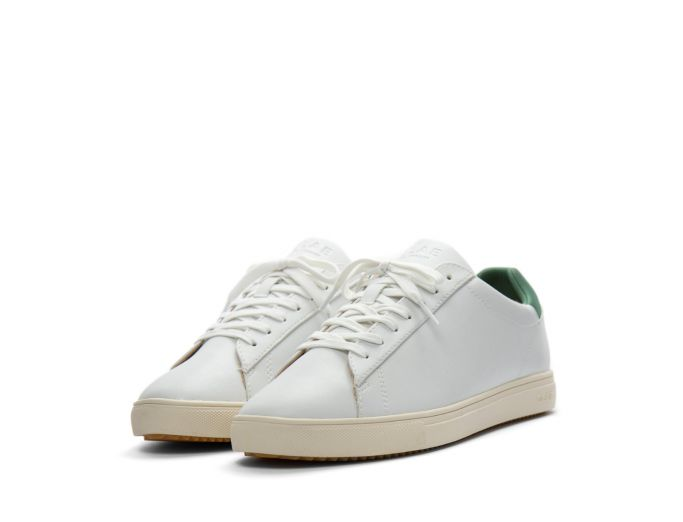 Clae Bradley white olive vegan leather