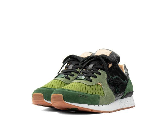 KangaROOS x Sneakerbaas 'Sin City II' COIL-R2 Hemp Green