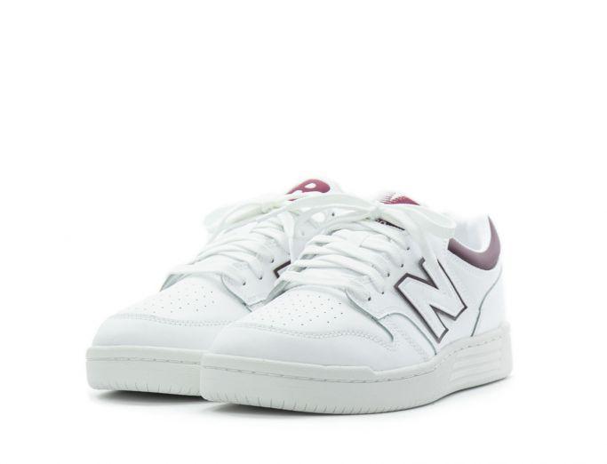 New Balance 480 white burgundy