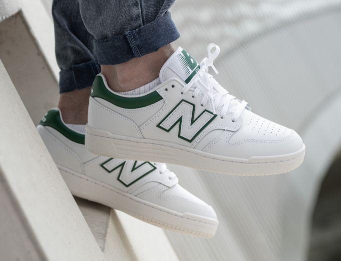 New Balance 480 white with timberwolf