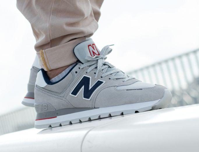 New Balance 574 Rugged grey navy white red