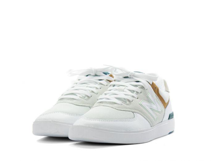 New Balance 574 white with workwear