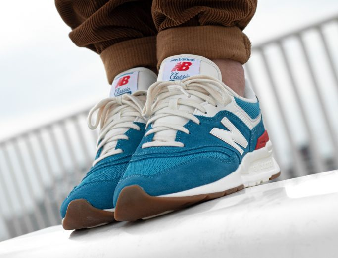 New Balance 997H light rogue wave with ghost pepper