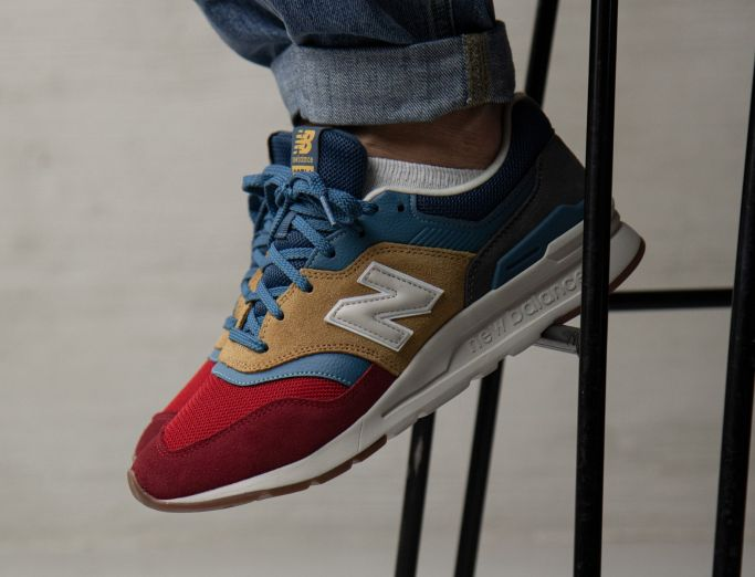 New Balance 997H workwear with red