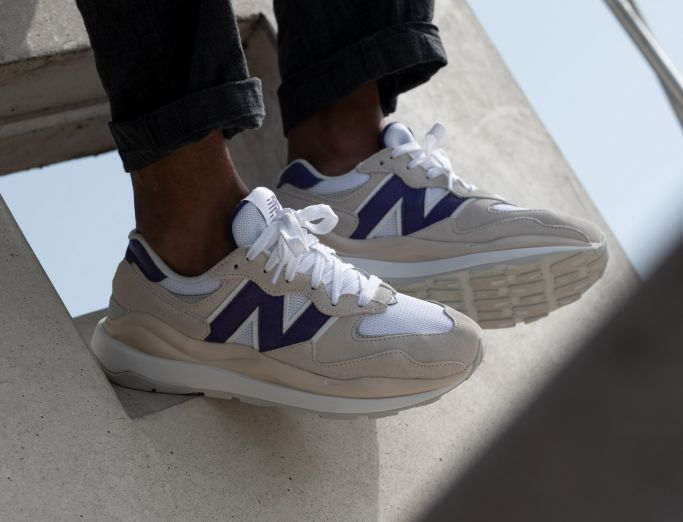 New Balance 57/40 sea salt with purple