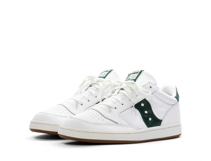 Saucony Jazz Court white green