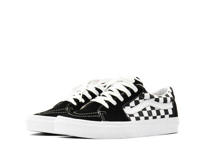 Vans Sk8-Low black checkerboard