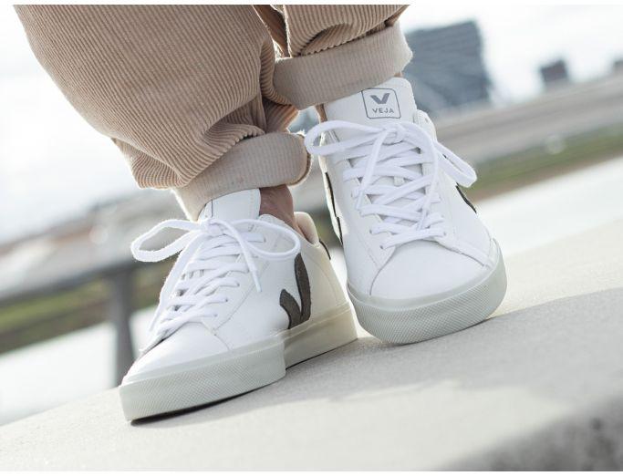 Veja Campo Chromefree Leather extra white kaki