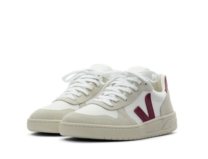 Veja V-10 B-Mesh white marsala
