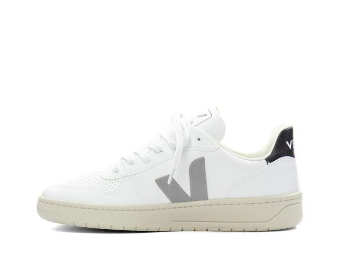 Veja V-10 CWL Vegan white oxford grey black