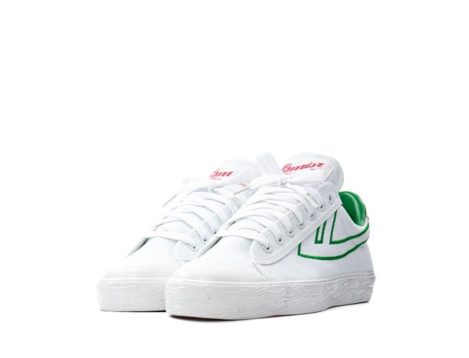 Warrior WB-1 EMB white green embroidery