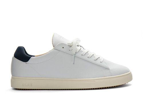 Clae Bradley white navy vegan leather