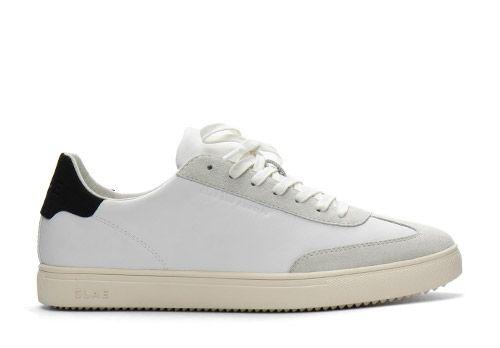 Clae Deane white leather black