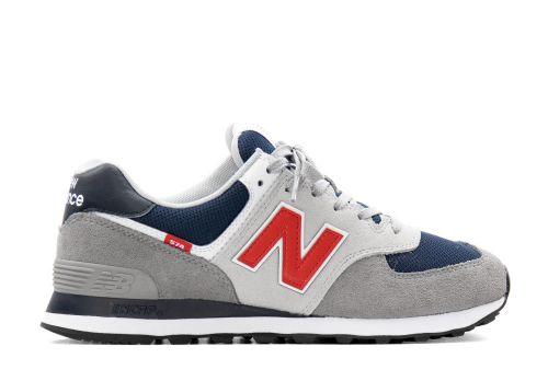 New Balance 574 grey navy red
