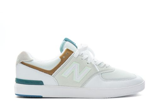New Balance AM574 white with workwear